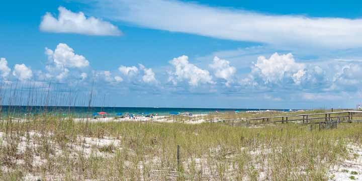 beach and clouds Perdido Key