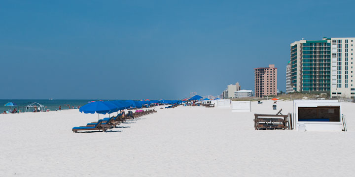 Condos on the beach in Perdido Key
