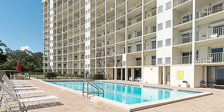 Pool at Riviera condos