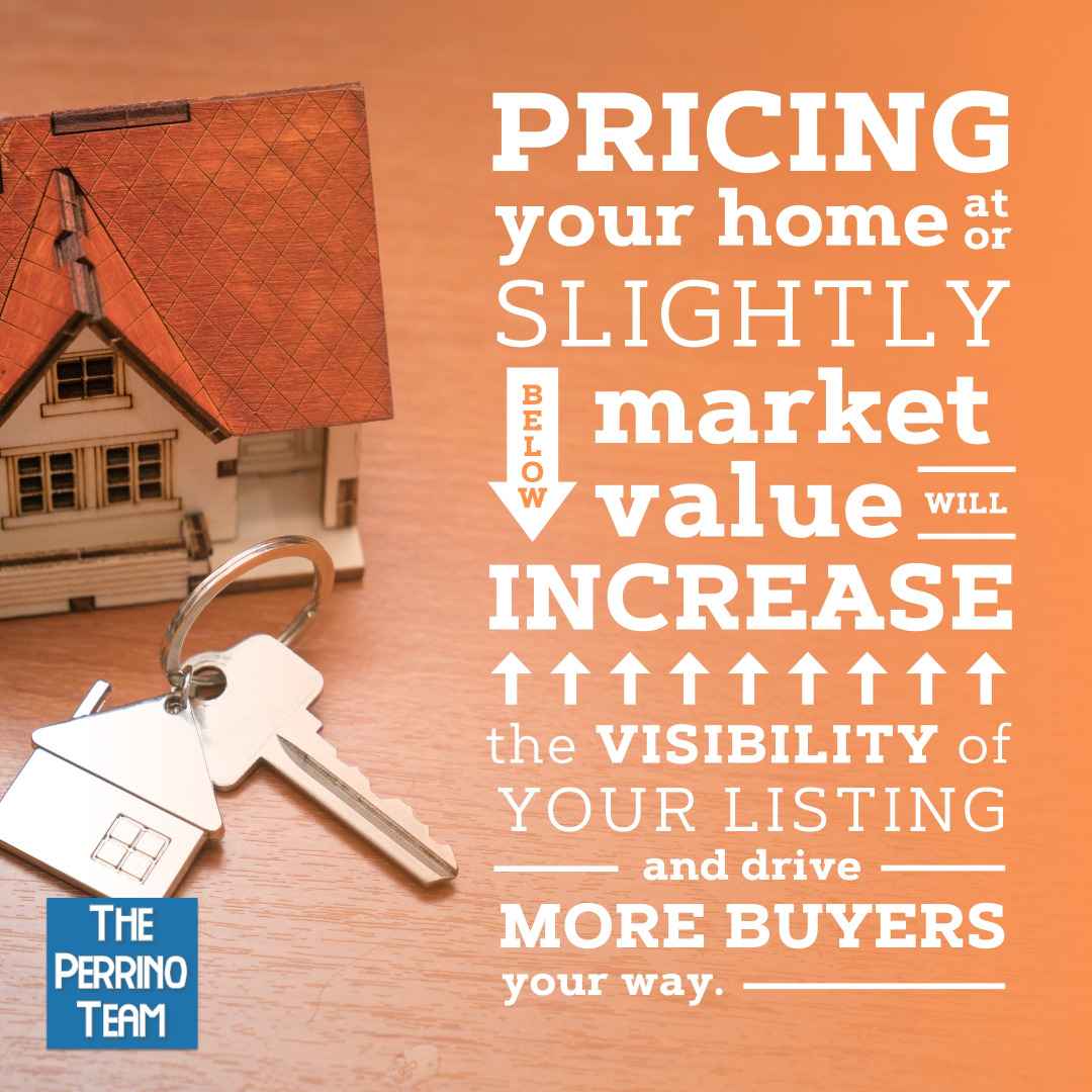 Listing Your Home Slightly below market value can generate more interest in your home.