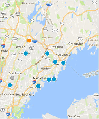 Westchester Map Condo Search