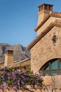 Scottsdale house with mountains in background