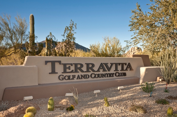 Terra vita Country Club Golf Sign