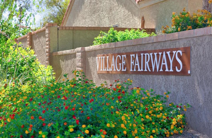 Village Fairways Sign