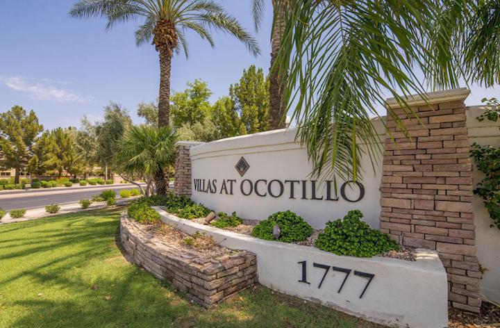Villas at Ocotillo Sign