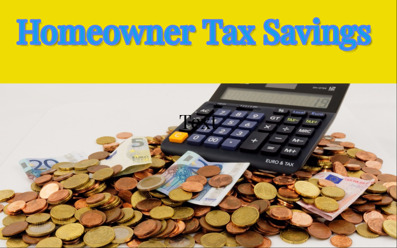 Homeowner tax savings