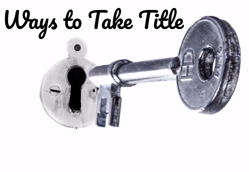 ways to hold title to property in AZ