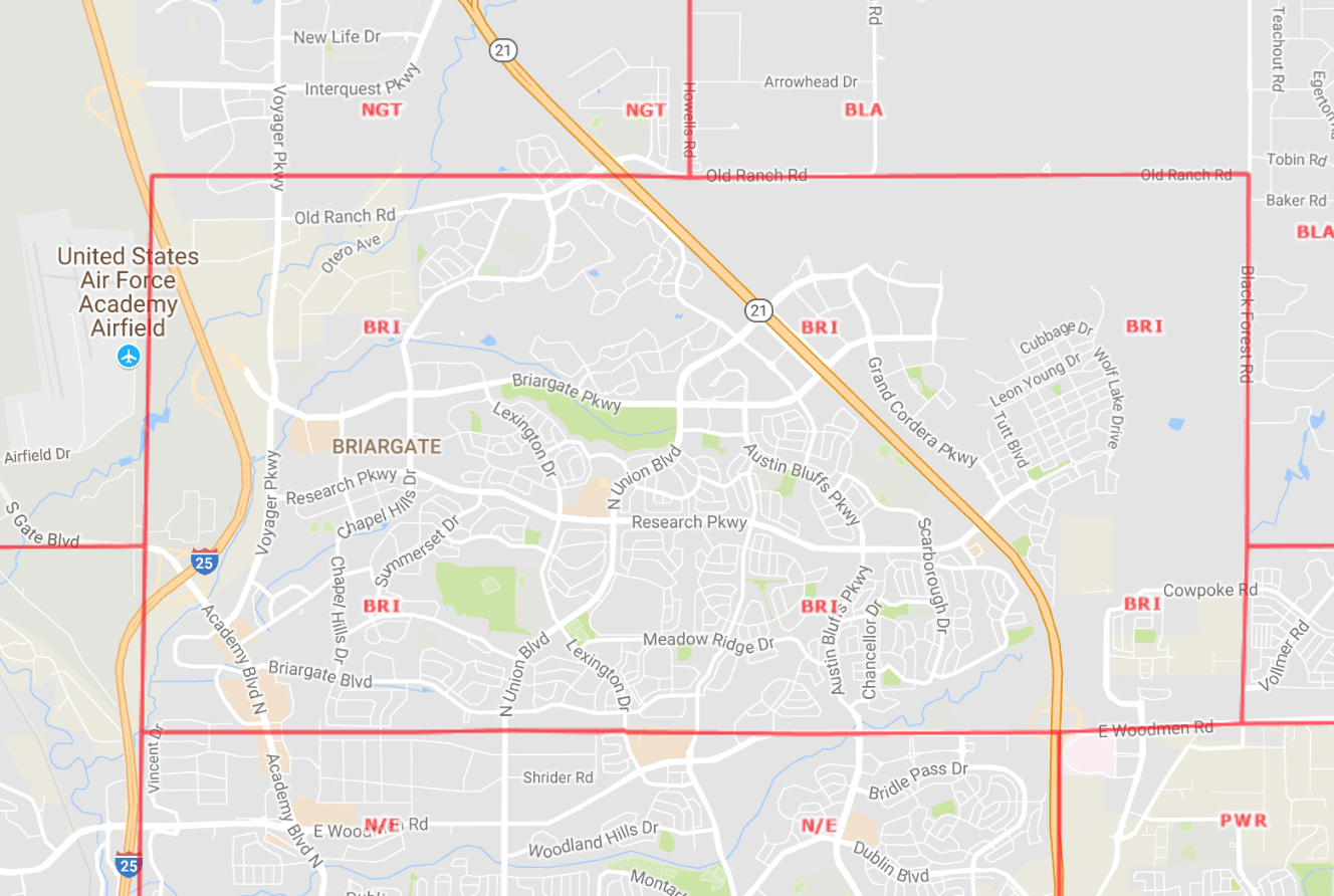 Briargate Area Map