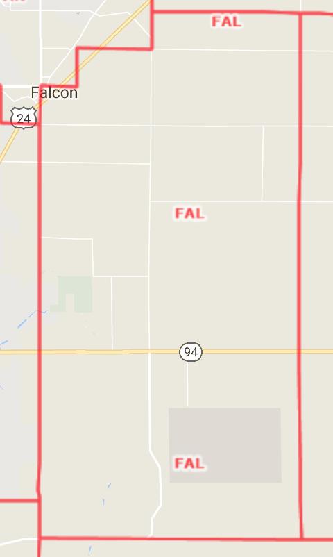 Falcon Area Map