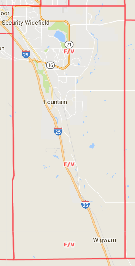 Fountain Valley Area Map