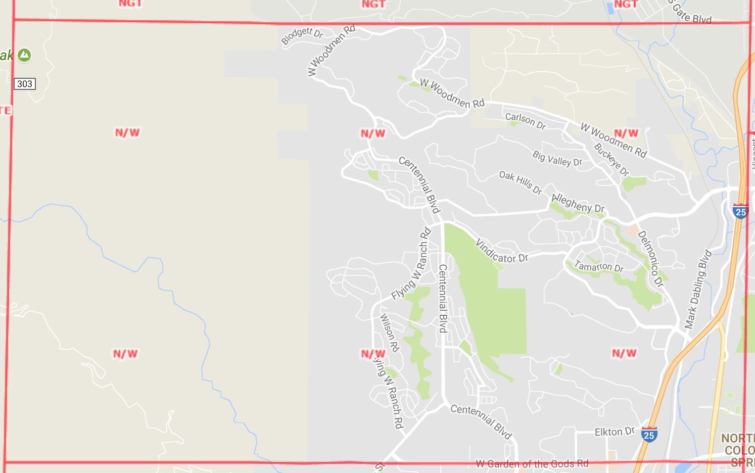 Northwest Area Map
