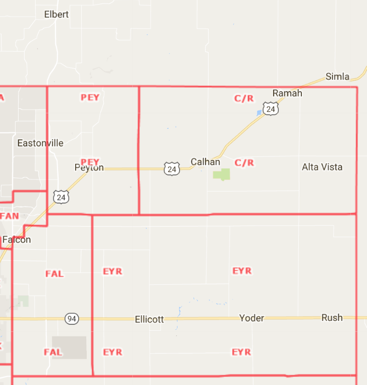 Rural East Area Map