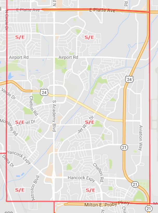 Southeast Area Map