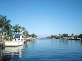 Looking down a canal Cape Coral