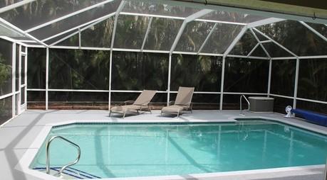 Beautiful secluded pool area