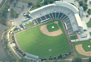Top View of Minnesota Twins Spring Training Stadium.