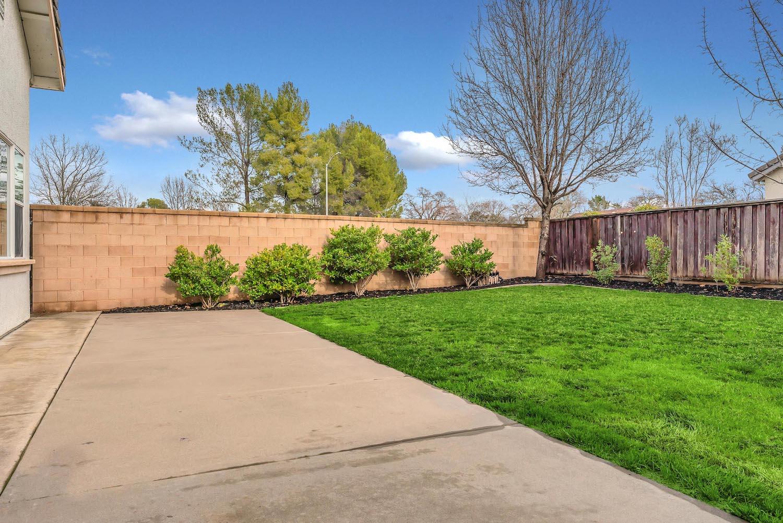 Backyard of home at 5903 Lindsay Ct, Rocklin, Ca.
