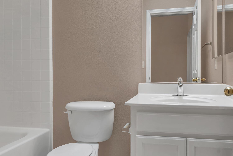 Upstairs bathroom of home at 5903 Lindsay Ct, Rocklin, Ca.