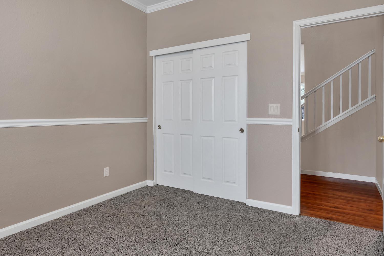 Downstairs bedroom of home at 5903 Lindsay Ct, Rocklin, Ca.