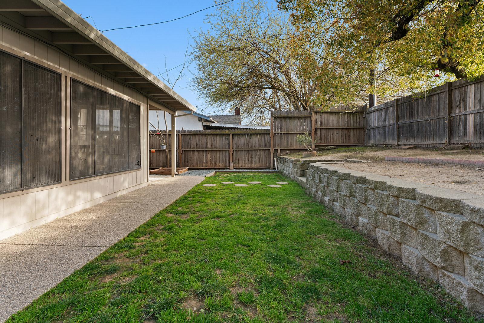 Backyard of home at 6235 Everest Way, Sacramento, Ca.
