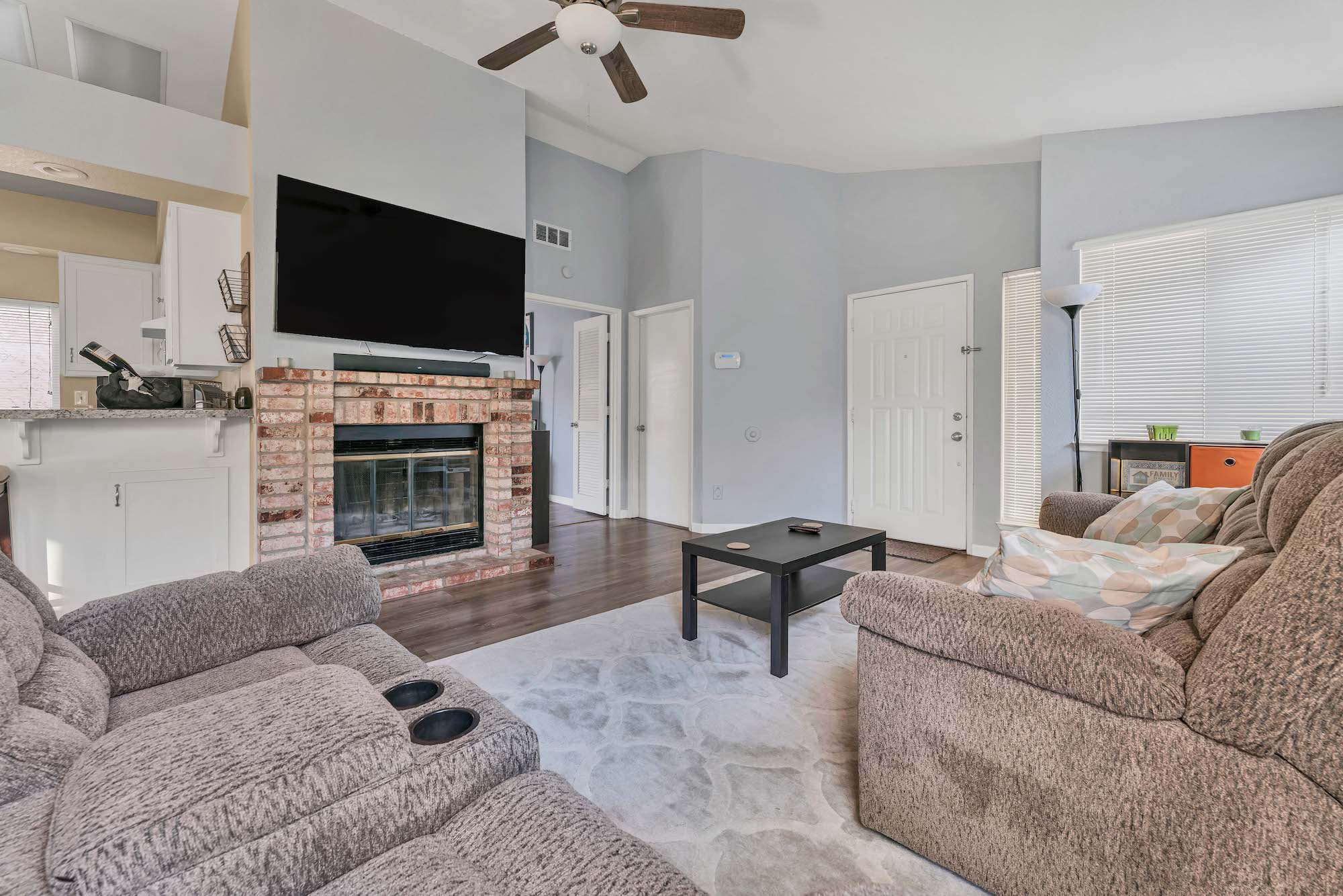Living room of the home at 7121 Heather Tree Dr, Sacramento Ca