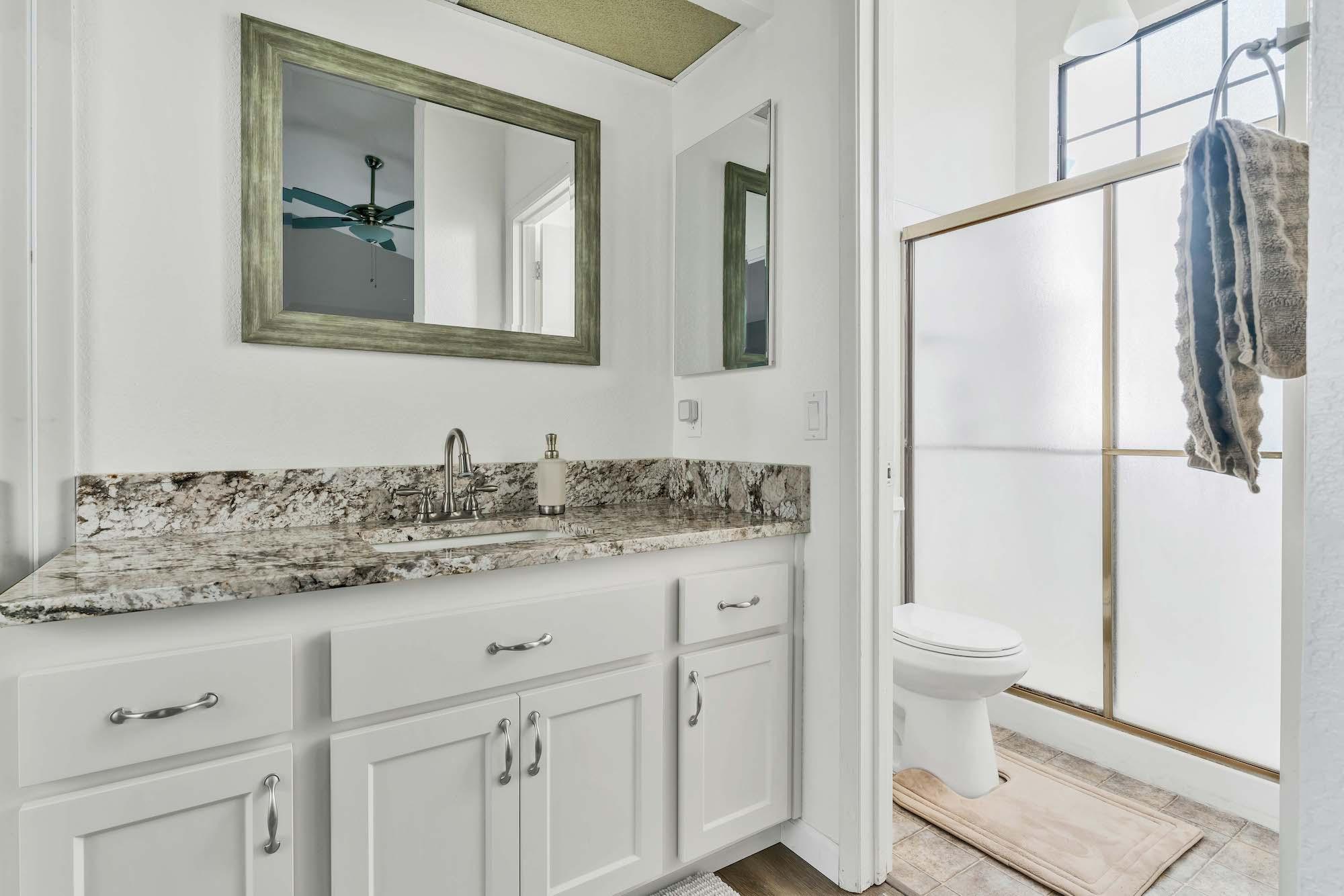 Master bathroom of home at 47121 Heather Tree Dr, Sacramento Ca