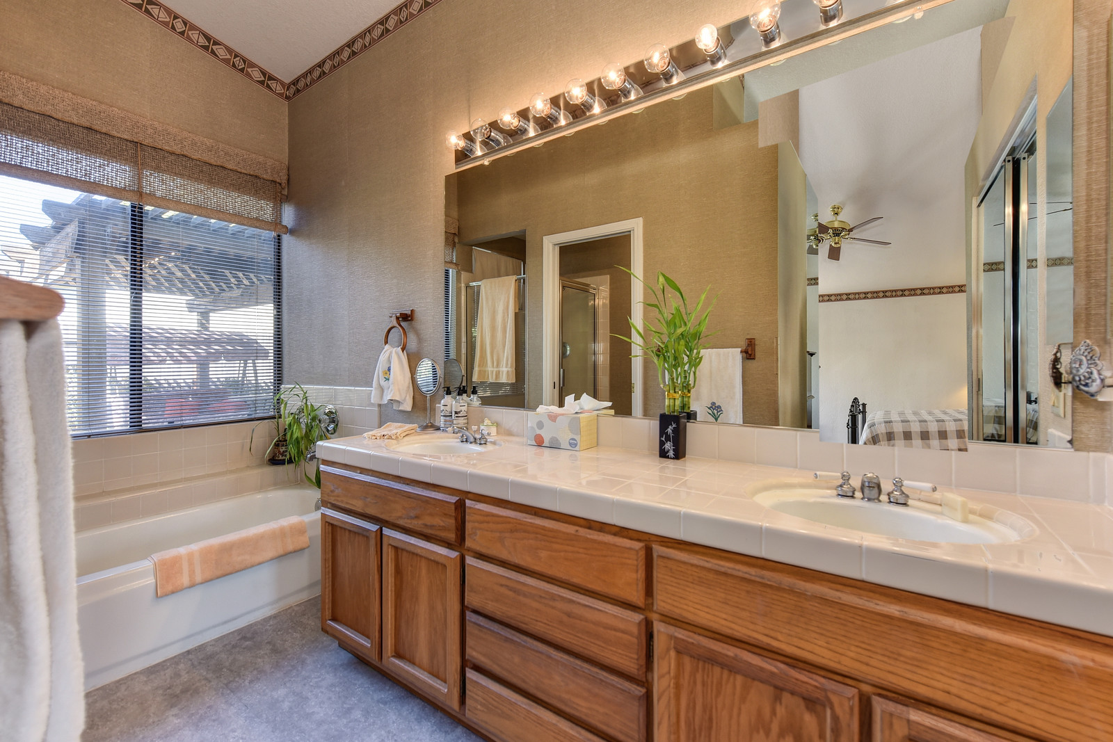 Master bathroom at 9158 Old Creek Rd | Elk Grove California | Sold above list price with multiple offers