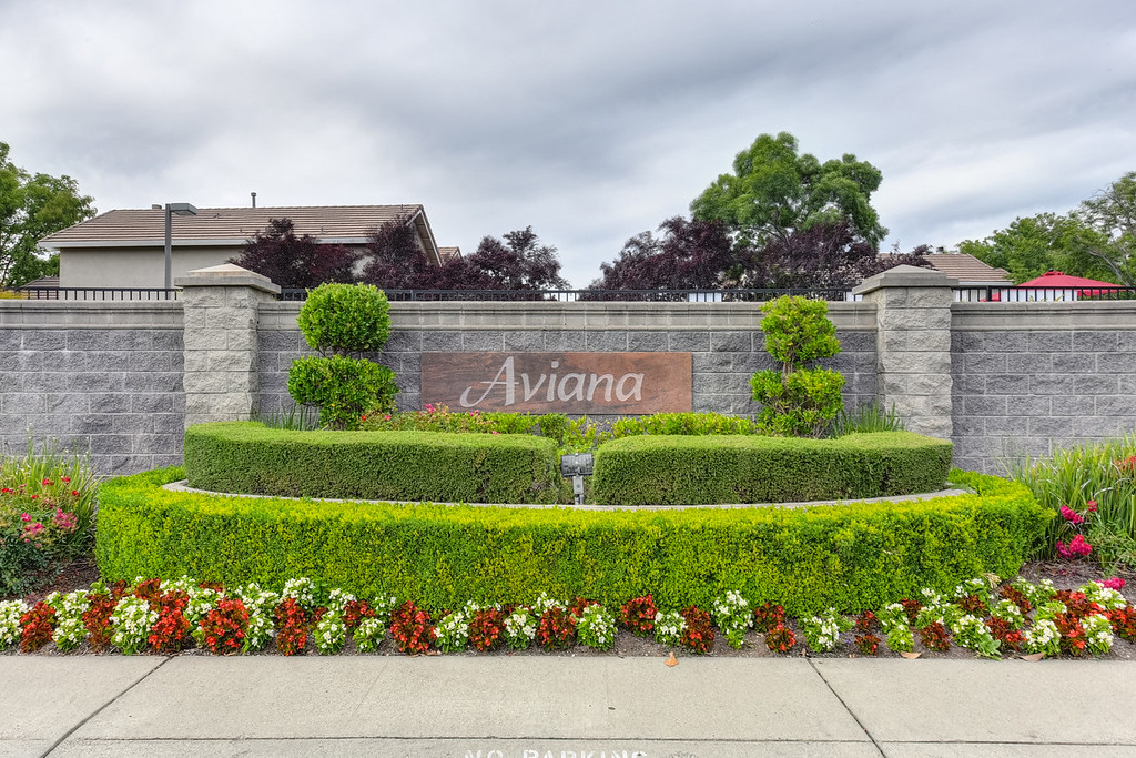 Aviana gated community in East Roseville California.