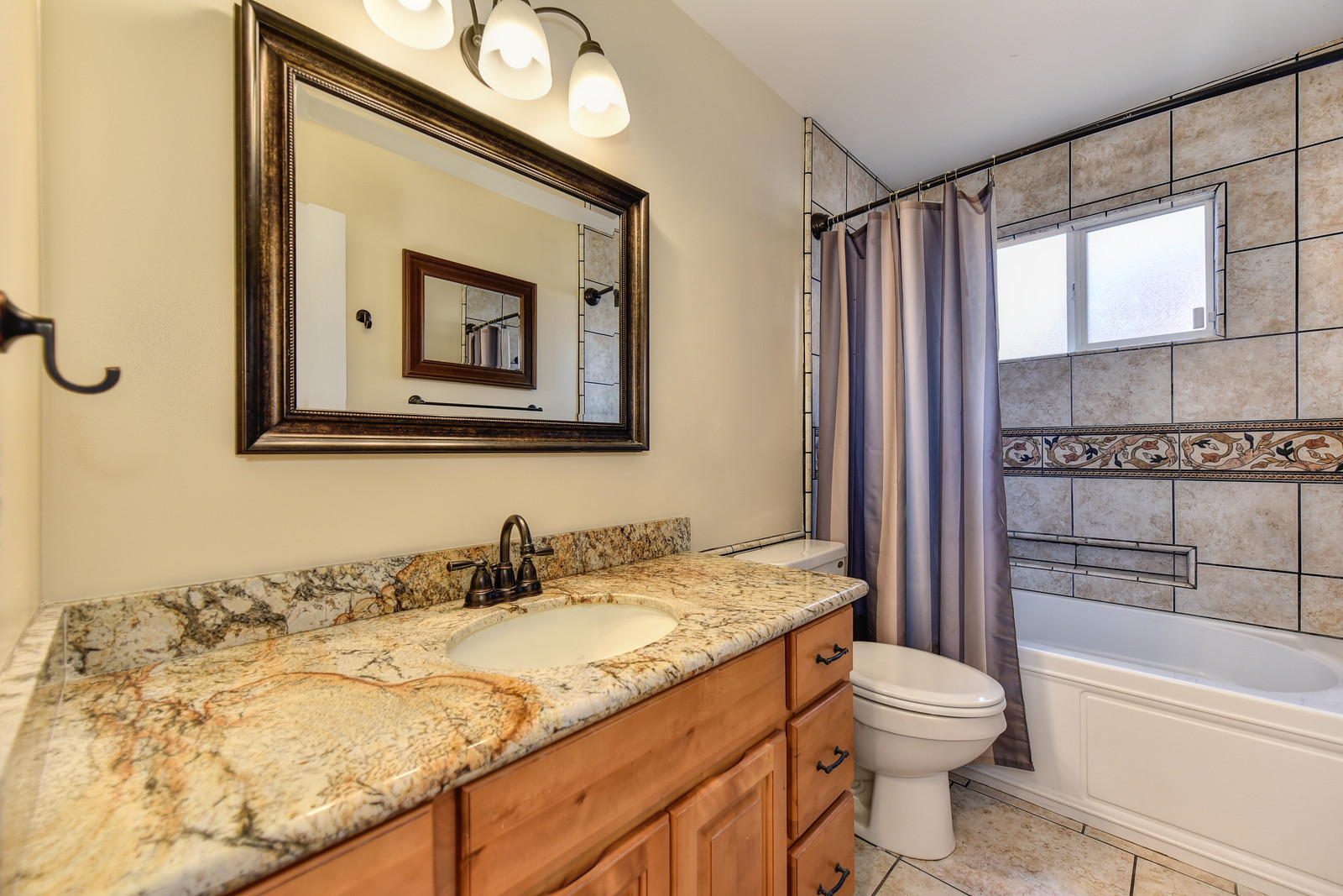 Realtor in Carmichael California | 5243 Nyoda Way hall bathroom | Just listed for sale