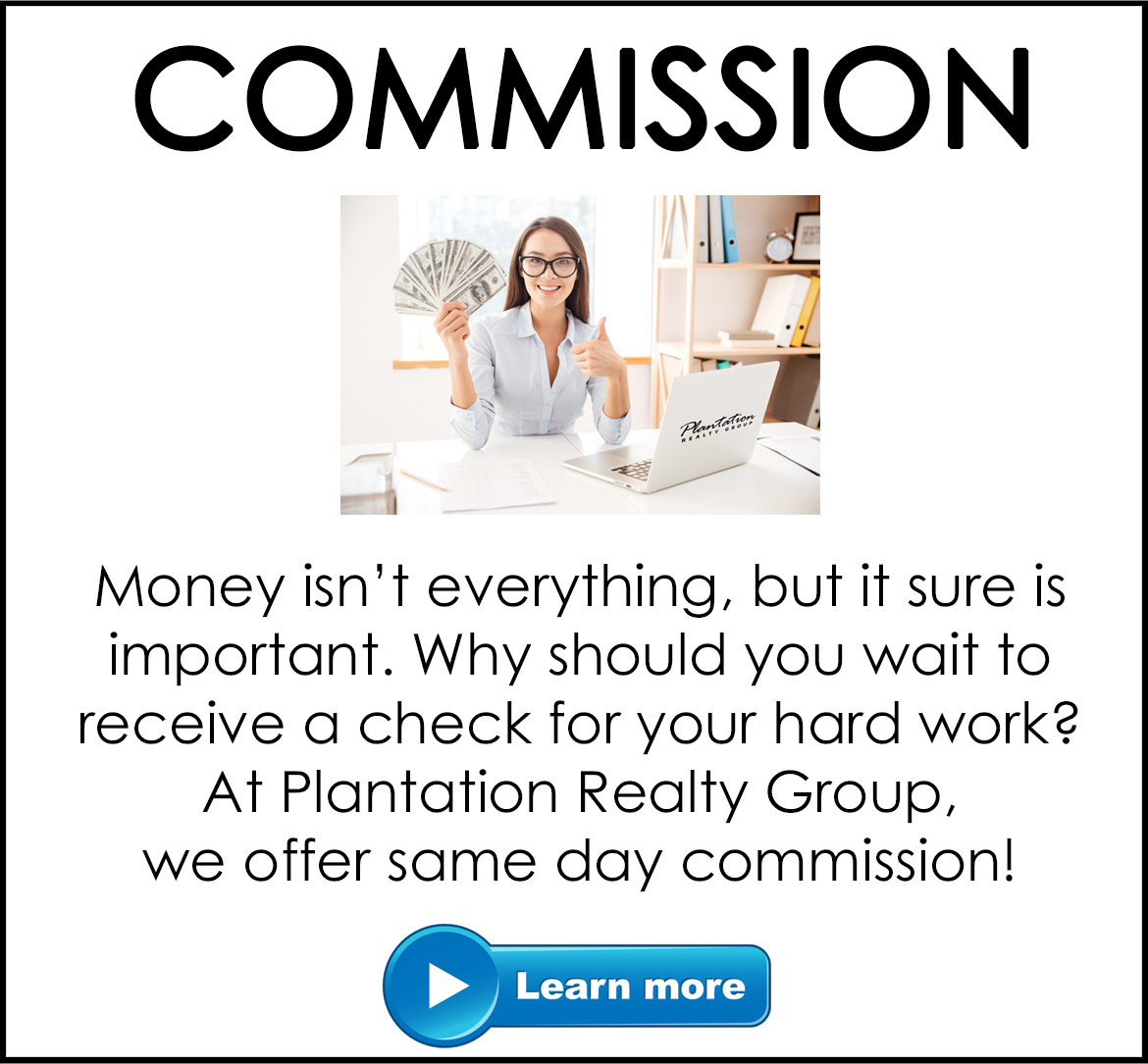 Join Plantation Realty Group Commission Myrtle Beach South Carolina