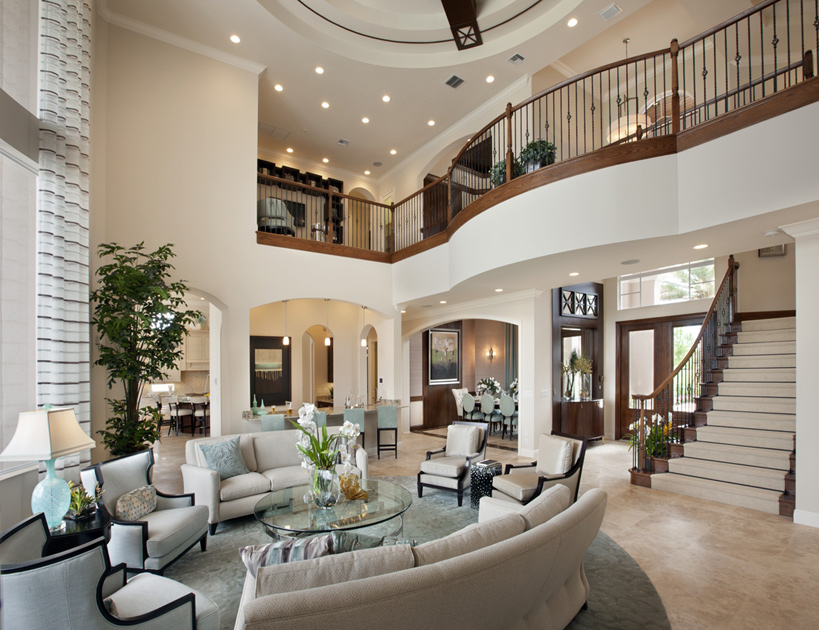 love the balcony inside that looks over the living room living room pinterest balconies living rooms and r - Big Houses Inside
