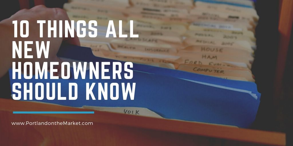 10 Things All New Homeowners Should Know