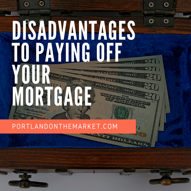 disadvantages to paying off a mortgage