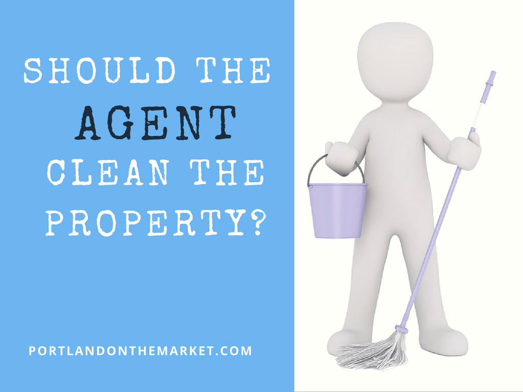 Should the agent help clean the property