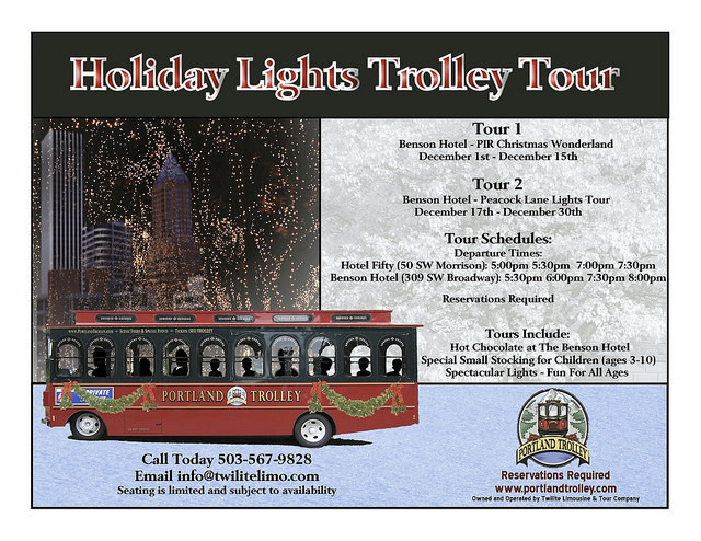 Holiday Trolley Tours in Portland