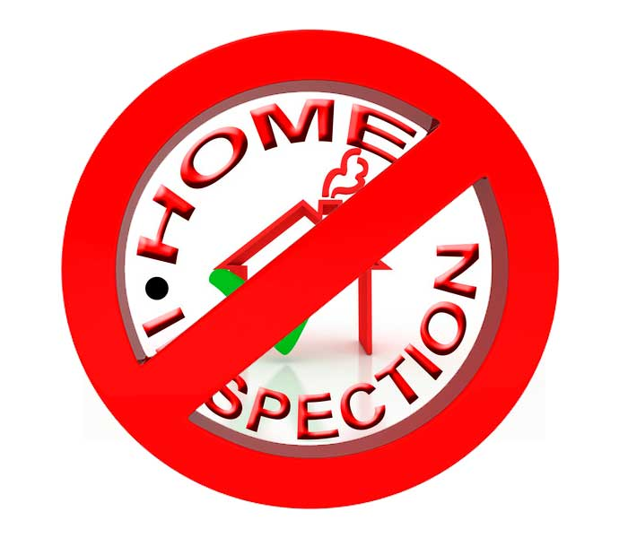 why we waived the home inspection