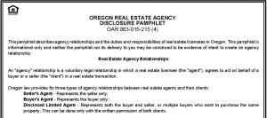 Porltand Real Estate - OR Agency Disclosure Pamphlet