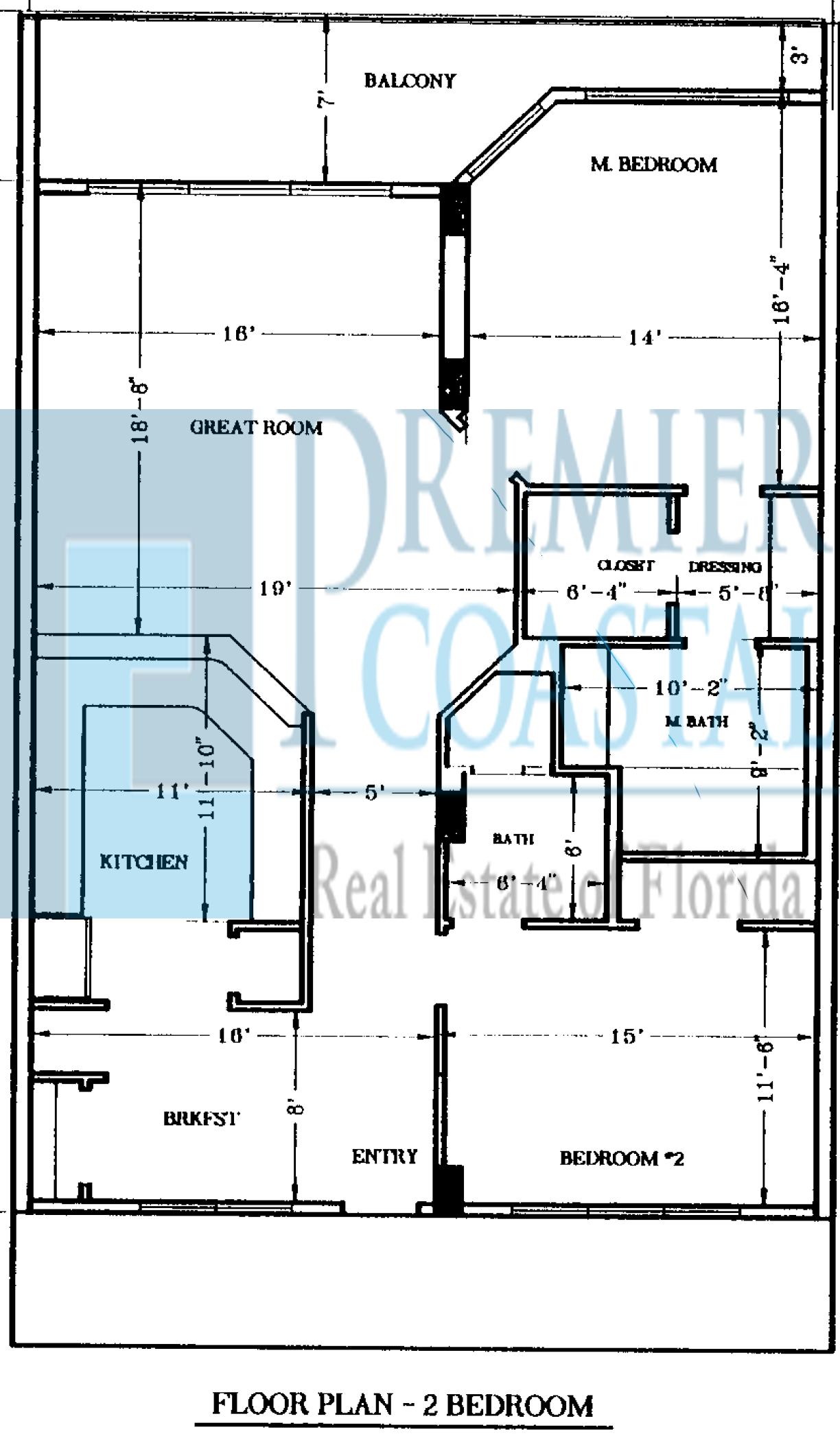 Coral Reef two bedroom floor plan