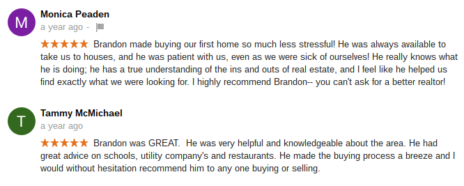 Olympia & Lacey WA Real Estate Agent Brandon Stephens Reviews