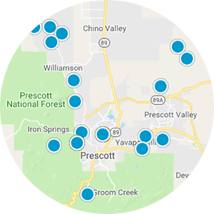 Prescott AZ Real Estate Map Search