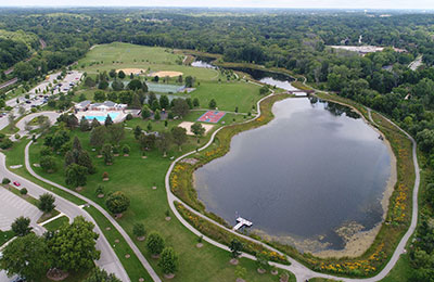 elm grove aerial view