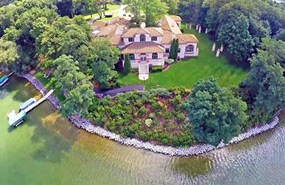 oconomowoc lake aerial view