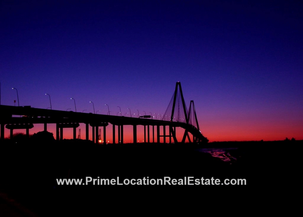 post sunset Charleston Harbor