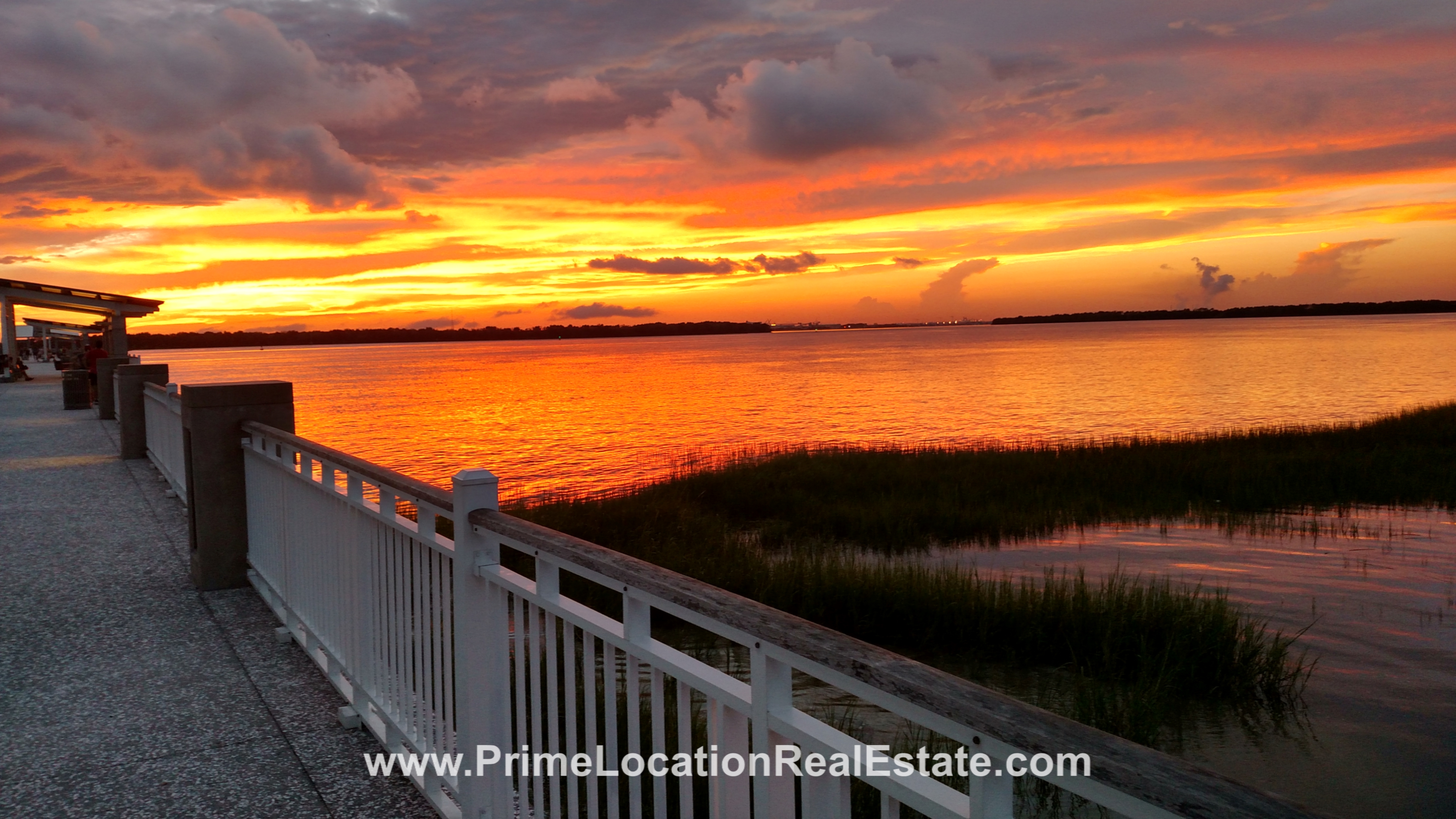 Pier Sunset in Mt Pleasant  - Charleston SC