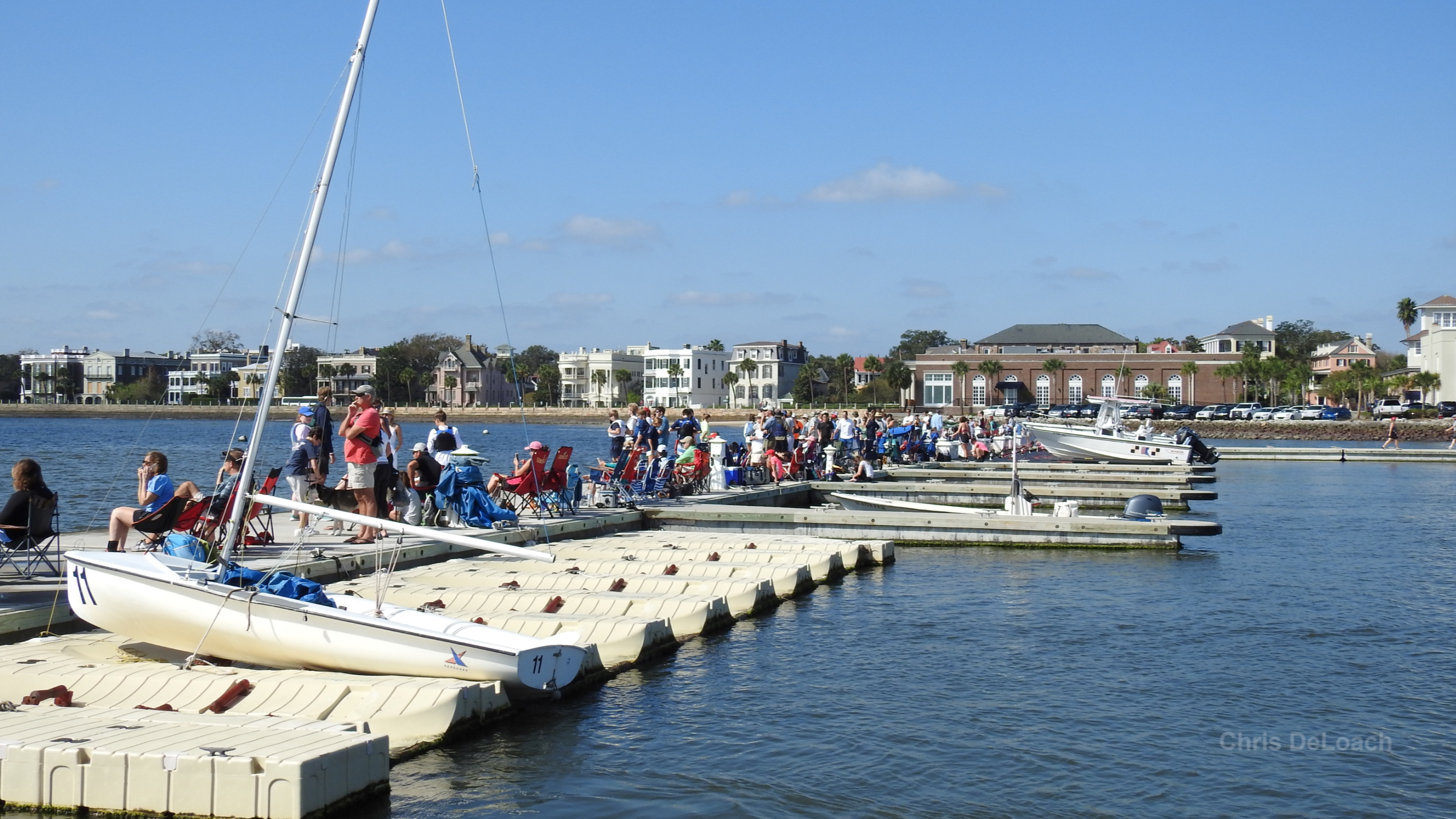 Sailing boats at Charleston YC in Charleston South Carolina