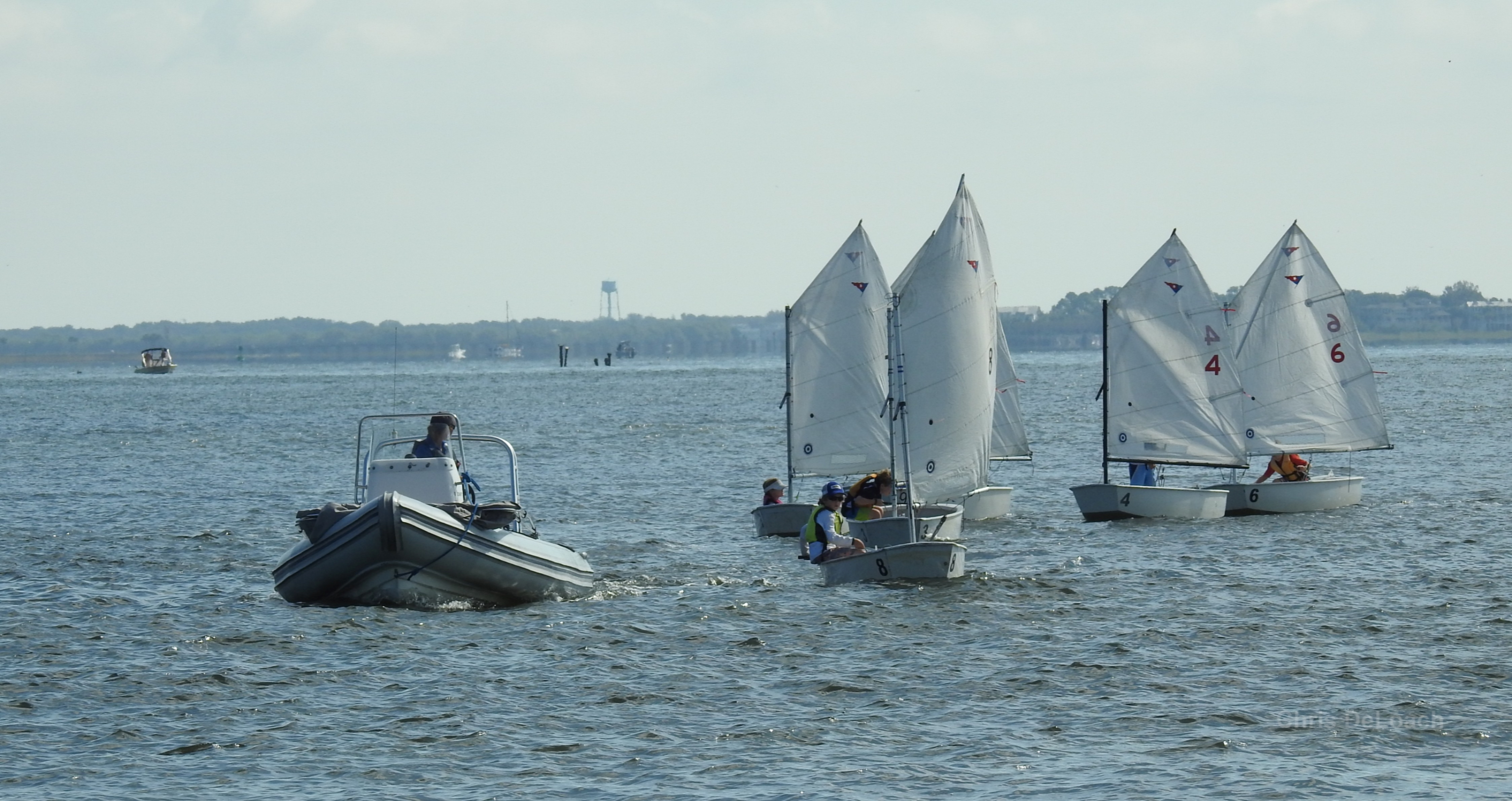 Sailing Optis in Charleston South Carolina
