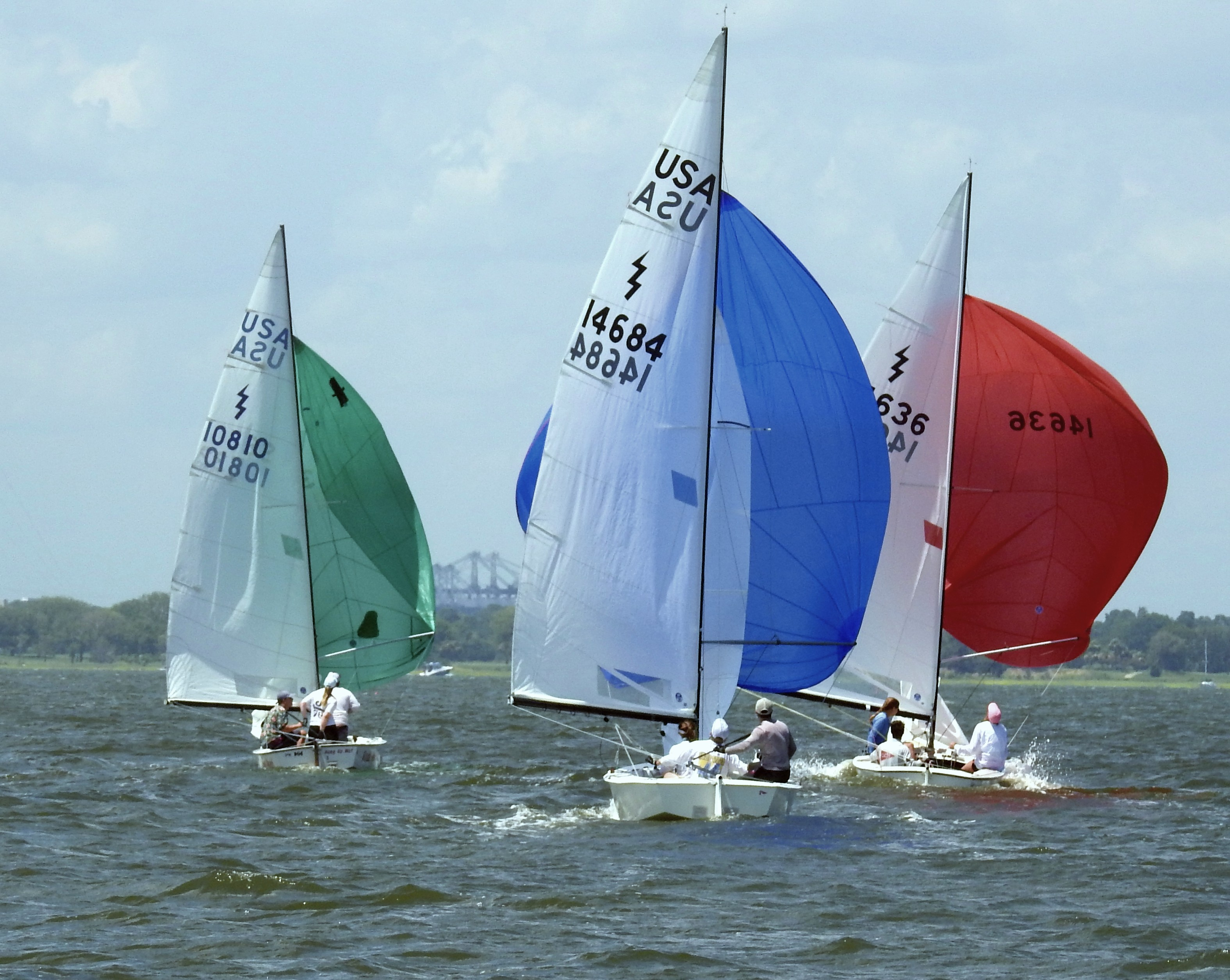 On the Charleston Harbor sailing
