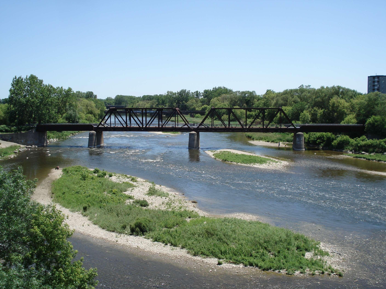 Brantford Ontario View of Grand River