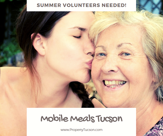 Mobile Meals Tucson needs volunteers to help deliver meal trays to homebound Pima County residents this summer. Your two-hour investment of time each week can make a world of difference in several people's lives, including your own.