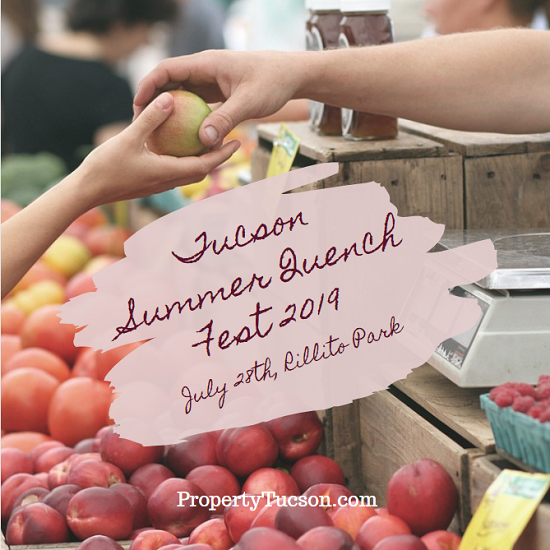 Stock up on the freshest fruit and produce of the season at the Tucson Summer Quench Fest 2019 in Rillito Park on July 28th.